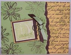 I used the Dazzling Diamond Dust technique on the Dream square. Stampin Up Cards, Cardmaking, Vintage World Maps, Sparkle, Paper Crafts, Tips, How To Make, Making Cards, Tissue Paper Crafts