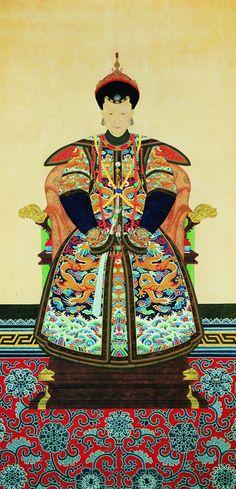 大清国满洲皇后 贵妇画像