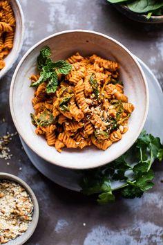 Monday - Golden Sun-Dried Tomato Red Lentil Pasta | halfbakedharvest.com @hbharvest via @hbharvest
