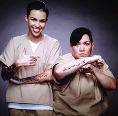 ruby and big boo, oitnb Black Ruby, Orange Is The New Black, Ruby Rose Hair, Piper Chapman, Alex And Piper, Alex Vause, Welcome To The Family, Australian Models, Orphan Black