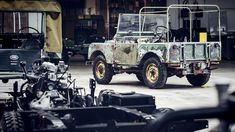"""The utilitarian star of the 1948 Amsterdam Motor Show was not in """"concours condition"""" when Land Rover dug it out of a Welsh farm. Not by a long shot. Land Rover Serie 1, Land Rover Defender, Weird Cars, Cool Cars, Mongoose Mountain Bike, Jaguar Land Rover, Long Shot, Pre Production, Restaurant"""
