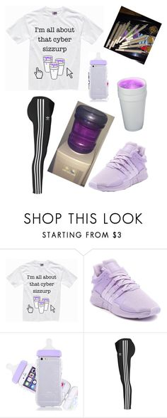 """its all about that weed and lean😆"" by lashantiquianna88 ❤ liked on Polyvore featuring adidas and adidas Originals"