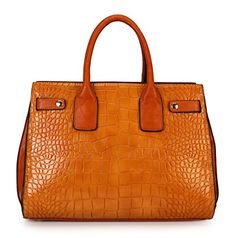 """Fraless Collection """"Corcodile"""" Structured Simplicity Satchel Handbag Fraless Collection http://www.amazon.com/dp/B00N462F96/ref=cm_sw_r_pi_dp_LYrBub0FDXFD3"""