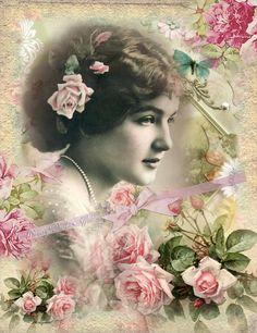 Digital Collage sheet vintage instant download