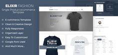 Elixir – Single Product eCommerce PSD Template