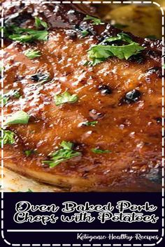Recipe video above. This is a sauce made for baked pork chops. It makes them come out golden and sticky, rather than pale and bland. It's a country-style sauce that's savoury and a bit sweet! Potatoes are optional - or sub with other roastable veg