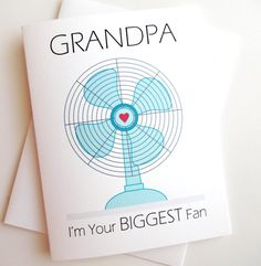 Biggest Fan Grandpa Card  Birthday  Father's Day