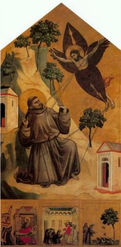 Giotto: St. Francis Receiving the Stigmata, part of Scenes from the Life of Saint Francis. 1295-1300. 314x162cm.