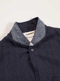 Universal Works Indiogo Suit Jacket in Japanese Herringbone