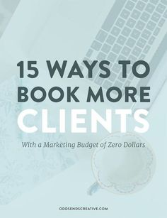 INTERESTING. Learn how to book more clients for your creative business when you don't have a lot of money (or any) to spend on marketing. You can connect with your dream client and land that booking by spending nothing at all. For Creative Entrepreneurs / Solopreneurs. Sign up to the Odds + Ends email list to get your copy: eepurl.com/bzmJgH
