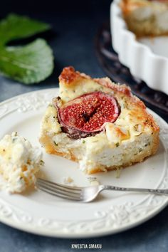Goat's cheese and fig quiche