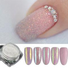 5pcs Holographic Shining Sugar Nail Glitter Dust Powder