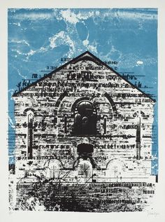 """""""Swansea Chapel"""" by John Piper. Editioned at Curwen Studio, 1966 (lithograph) Landscape Drawings, Landscape Paintings, Landscapes, John Piper Artist, Architecture Artists, Architecture Drawings, Gothic Architecture, Building Painting, Expressive Art"""