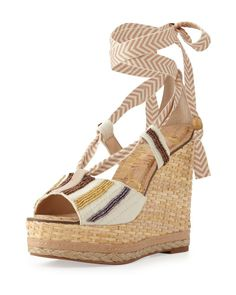f2ebbd779caf49 NEW Sam Edelman Women s Trey Wedge Sandal SHOES Brown SIZE 8.5 ORIG  175  Strap Sandals