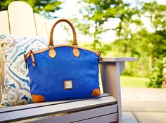 Royal blue is the perfect hue to carry your look from summer to fall. See the Suede Satchel at http://www.dooney.com/OA_HTML/ibeCCtpSctDspRte.jsp?minisite=10020&respid=22372&dbref=d335&dbmed=social&dbsource=AOW081814SuedeSatchel&dbname=%20AOW081814SuedeSatchel%20+(d335)&section=71082&dbdcc=SUFBPANA