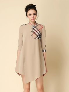 Stylish Plaid Color Contrast Western #kurti