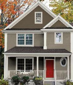 Home exterior paint combos.