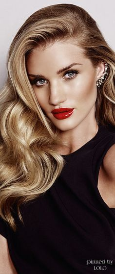 Rosie Huntington Whiteley #lipcolorsforblondes
