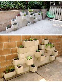 jardim com blocos