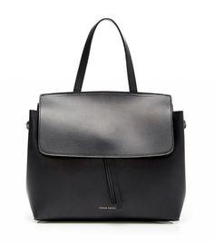 Mansur Gavriel Black Flamma Calf Leather Mini Lady Bag