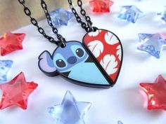 Lilo & Stitch (Necklaces by HappysCharms @Etsy) #LiloAndStitch
