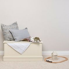 Our Charterhouse children's toy box - antique white is as beautiful as it is practical. Suitable for toys, games, clothes and more this timeless chest is perfect for use in both a bedroom or playroom. Childrens Storage Units, Childrens Bedroom Storage, Blanket Box, Toy Storage, Toy Boxes, Floating Nightstand, Playroom, Toys, Antiques