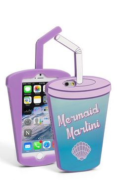 Skinnydip 'Mermaid Martini' iPhone 6 & 6s Case available at #Nordstrom