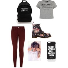 Untitled #14 by veggieranch on Polyvore featuring polyvore, fashion, style, dVb Victoria Beckham, Dr. Martens and Jac Vanek