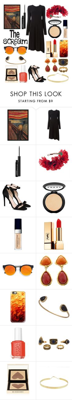 """""""The Scream"""" by eve22s ❤ liked on Polyvore featuring Amanti Art, DKNY, MAC Cosmetics, Rock 'N Rose, STELLA McCARTNEY, LORAC, Christian Dior, Yves Saint Laurent, LULUS and Chanel"""
