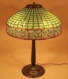 tiffany greek key table lamp. Tiffany Studios Greek Key Table Lamp    gustavstickley.com