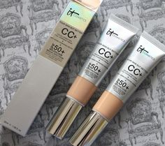 CC cream from IT cosmetics. It's full coverage. For those with sensitive skin and blemishes to hide, don't smear on heavy liquid - try this. Then top it off with their powder to give you that air brush look. One of PB's favs.