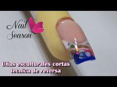 How to do sculptural nails step by step short design Natural Nails, Cute Nails, Diy, Youtube, Amor, Sculpted Nails, Summer Nail Art, Square Nails, Pretty Nails