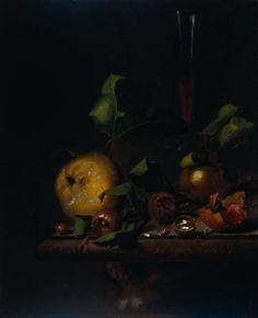 Martinus Nellius (1674-1706)  Still Life with Quinces, Medlars and a Glass