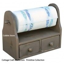 Primitive Paper Towel-Ribbon Holder