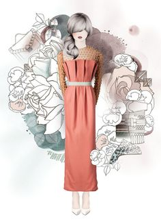 Mixed Media Fashion Campaign by Mariam A. http://www.inspirefirst.com/2013/10/23/mixed-media-fashion-campaign-mariam/