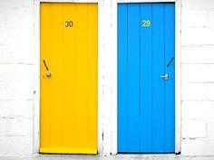 portas coloridas decoracao casa