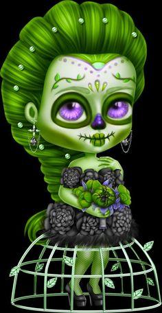 Flower Phone Wallpaper, Gothic Dolls, Voodoo Dolls, Cute Pictures, Chibi, Creepy, Cricut, Clip Art, Sugar Skulls