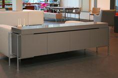 Saratoga dressoir 224 cm Lak taupe - Designsales.nl