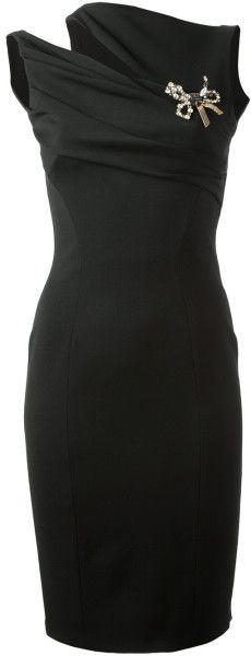 DSQUARED2 Asymmetric Shoulder Dress - Lyst