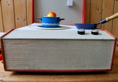 diy children's toy kitchen from a record player