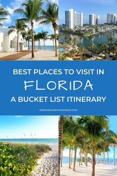 Unmissable Florida Destinations | With so much Florida to go around, there is something for everyone: from the excitement of Miami and its great hotel scene, shopping and dining, to Orlando and its theme parks, to nicer quieter areas such as Sarasota and icons such as the Florida Keys. | Mrs O Around the World | #Travel #Florida #FloridaDestinations | florida trips | florida ideas | visit florida | vacation florida | travel to florida | beautiful places in florida | florida fun Florida Trips, Places In Florida, Visit Florida, Florida Vacation, Florida Travel, Florida Keys, Beach Travel, Summer Travel, Usa Travel