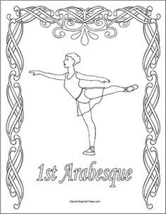 Image result for ballet 5 arabesques position coloring pages