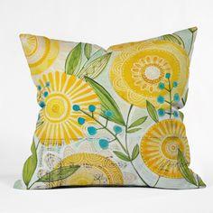 Cori Dantini Sun Burst Flowers Throw Pillow | DENY Designs Home Accessories