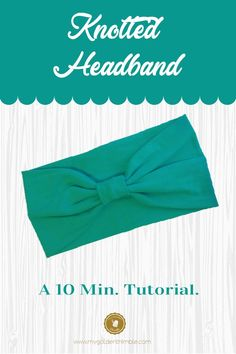 10 Minutes DIY Headband Tutorial, Diy And Crafts, Headband DIY. Learn how to make this cute headband for women in less than 10 minutes! You only need a scrap on knit fabric and a measuring tape. Sewing Headbands, Stretchy Headbands, Fabric Headbands, Athletic Headbands, Headband Tutorial, Headband Pattern, Diy Headband, Diy Tutorial, Easy Sewing Projects