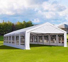 40'x20' Heavy Duty Outdoor Carport Party Wedding Tent Shelter Gazobo Pavilion