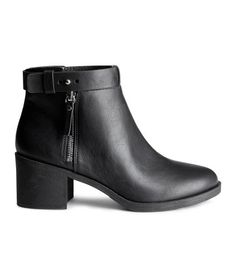 Designer Clothes, Shoes & Bags for Women Short Heel Boots, Short Black Boots, Black Heel Boots, Black Ankle Booties, Heeled Boots, Ankle Boots, Bootie Boots, Booty