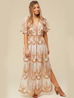 efb48b5125 Altar d State Leadore Maxi Dress Maxi Wrap Dress