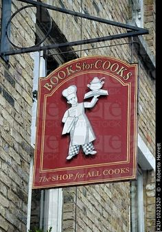 Books for Cooks bookshop in Notting Hill, London, England