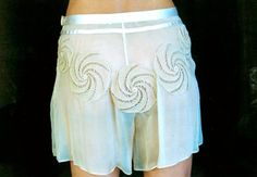 Transparent Shorts in Silk and Cotton with Ten by EnzaMorrone