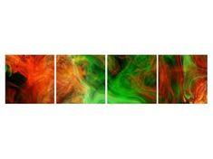 Abstraktní obrazy | Čtyřdílný 160x40 cm | TopObrazy.cz